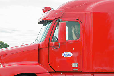 Self-driving Truck Art Print by Jim West