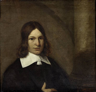 Self-portrait Drawing - Self Portrait , Attributed To Pieter De Hooch by Litz Collection