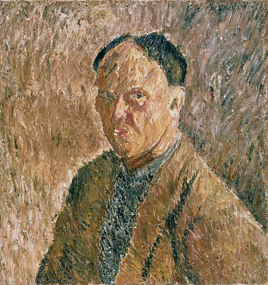 Painter Photograph - Self Portrait, 1923 Oil On Canvas by Aleksandr Davidovic Drevin