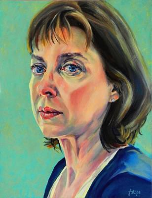 Self Portrait 2011 Art Print by Jolante Hesse
