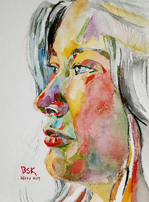 Painting - Self Portrait 4 by Becky Kim