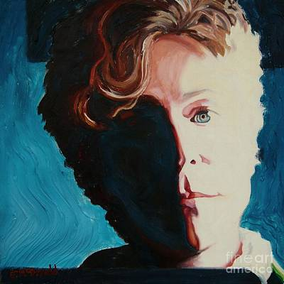 Painting - Self Portrait - A Study In Strong Directional Sunlight by Janet McDonald