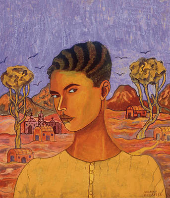 Mexican Town Painting - Self Portrait by Mountain Dreams
