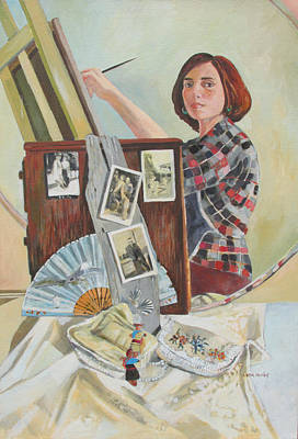 Painting - Self Portrait Age 33 by Linda Novick