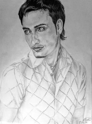 Self-portrait Drawing - Self Portrait by Alban Dizdari