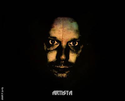 Self-portrait Mixed Media - Self Portrait Artista Three  by Sir Josef - Social Critic -  Maha Art