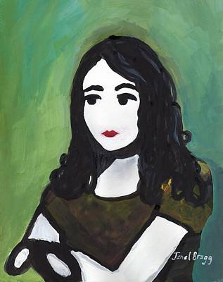 Self-portrait Mixed Media - Self Portrait As A Young Woman by Janel Bragg