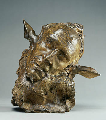 Self-portrait Drawing - Self-portrait As Midas Also Called The Sleeping Faun by Litz Collection