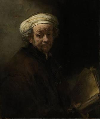 Painter Photograph - Self Portrait As The Apostle Paul, 1661 Oil On Canvas by Rembrandt Harmensz. van Rijn