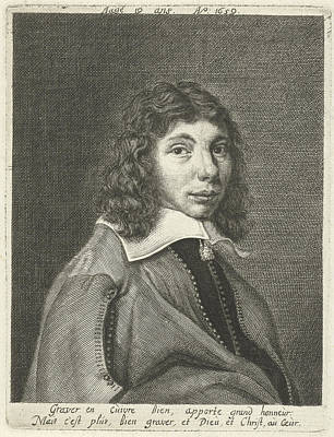Self-portrait Drawing - Self-portrait At The Age Of 19, Hendrik Bary by Hendrik Bary