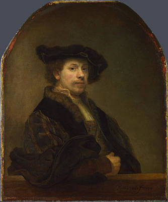 Painting - Self Portrait At The Age Of 34 by Rembrandt
