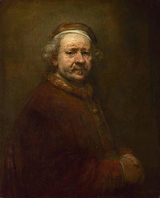 Painting - Self Portrait At The Age Of 63 by Rembrandt