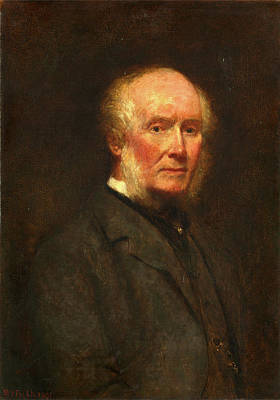 1819-1901 Painting - Self-portrait At The Age Of 83 Signed And Dated by Litz Collection