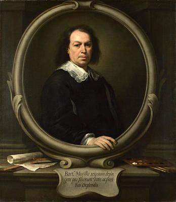 Painting - Self Portrait by Bartolome Esteban Murillo