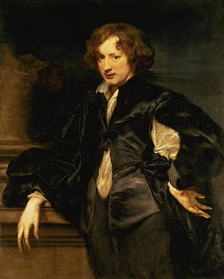 Painter Photograph - Self Portrait, C.1620-21 Oil On Canvas by Sir Anthony van Dyck
