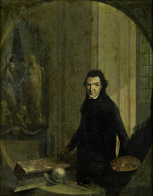 Self-portrait Drawing - Self-portrait, Christoffel Frederik Franck by Litz Collection