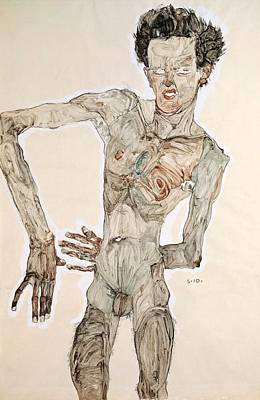 Painting - Self-portrait by Egon Schiele