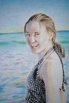 Drawing - Self Portrait by Emily Maynard