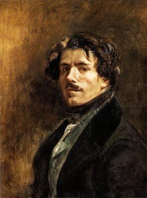 Self-portrait Print by Eugene Delacroix