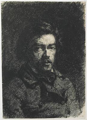 Self-portrait Drawing - Self-portrait François Bonvin, French by Litz Collection