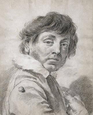 Self-portrait Drawing - Self-portrait by Giovanni Battista Piazzetta