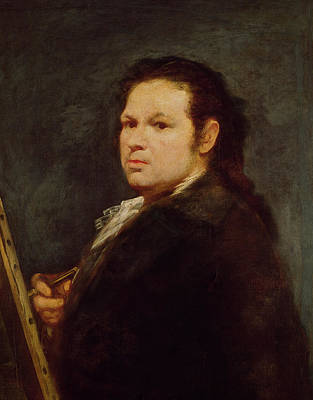 Artist At Work Painting - Self Portrait by Goya