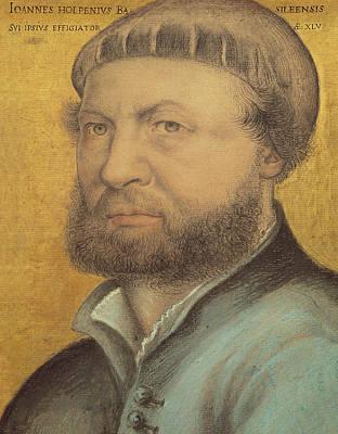 Inscription Pastel - Self Portrait by Hans Holbein