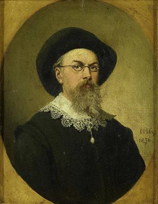 Self-portrait Drawing - Self Portrait, Hendrik Hollander Cz by Litz Collection