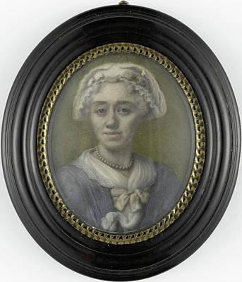 Pee Drawing - Self Portrait, Henriëtte Wolters-van Pee by Litz Collection
