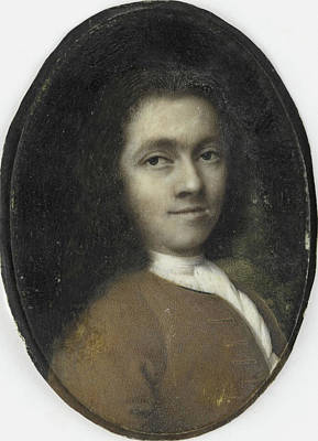 Self-portrait Drawing - Self Portrait, Herman Wolters by Litz Collection