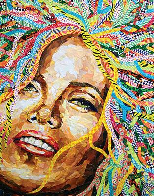 Self-portrait Mixed Media - Self Portrait In Junkmail by Linda N  La Rose