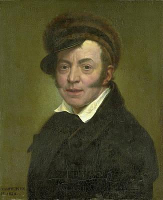 Self-portrait Drawing - Self-portrait, Jan Kamphuysen by Litz Collection