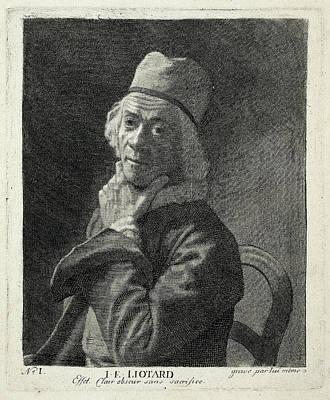 Self-portrait Drawing - Self Portrait, Jean-etienne Liotard by Quint Lox