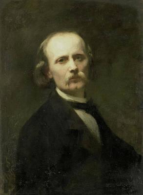 Self-portrait Drawing - Self-portrait, Johann Georg Schwartze by Litz Collection