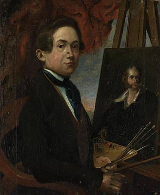 Self-portrait Drawing - Self-portrait, Johannes Daniël Susan by Litz Collection