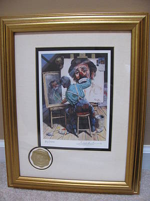 Emmett Kelly Painting - Self Portrait by Leighton Jones