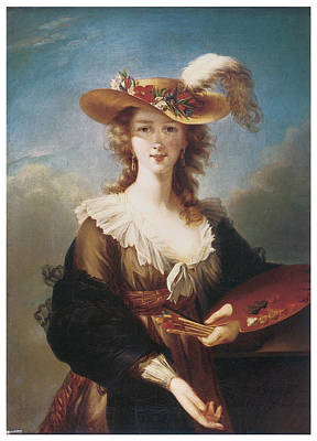 Marie-louise Painting - Self Portrait by Marie Louise Elisabeth Vigee-Lebrun