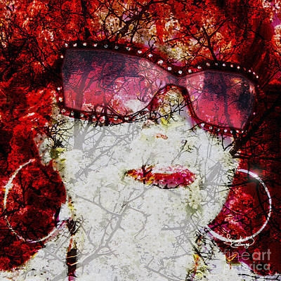 Photograph - Self Portrait My Rose Colored Glasses by Ginette Callaway