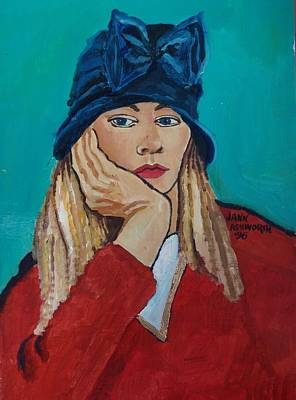 Self-portrait Mixed Media - Self Portrait No. 4 by Janet Ashworth
