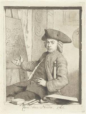 Self-portrait Drawing - Self Portrait Of Cornelis Van Noorde, Cornelis Van Noorde by Quint Lox