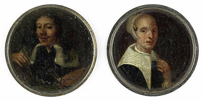 Self-portrait Drawing - Self Portrait Of Johann Philip Lembke And A Portrait by Litz Collection