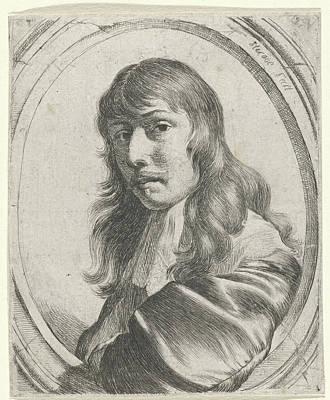 Self-portrait Drawing - Self Portrait Of Nicolaes Van Helt Stockade by Nicolaes Van Helt Stockade
