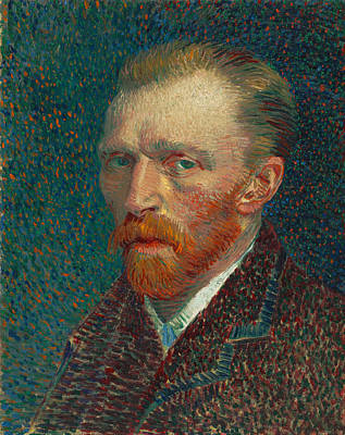 Impresionist Painting - Self Portrait Of Vincent Van Gogh by Vincent van Gogh