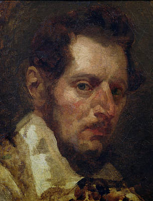 Painter Photograph - Self Portrait Oil On Canvas by Theodore Gericault