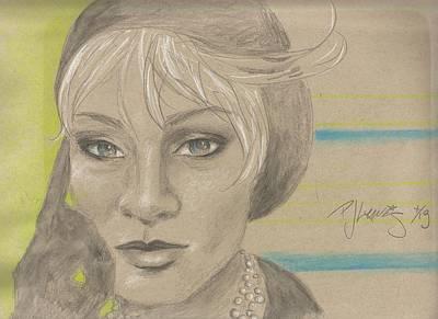 Self-portrait Drawing - Self Portrait by P J Lewis