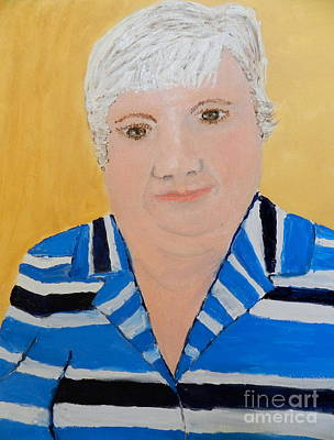 Self Portrait Art Print by Pamela  Meredith