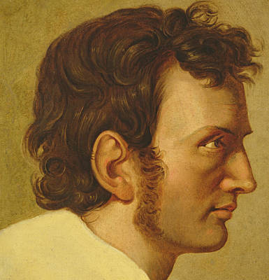 Self Shot Painting - Self Portrait by Philipp Otto Runge