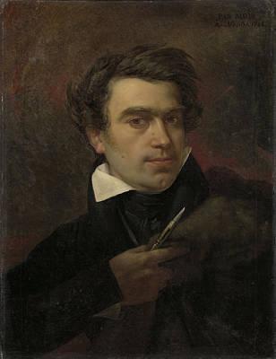 Self-portrait Drawing - Self-portrait, Pierre Van Hanselaere by Litz Collection