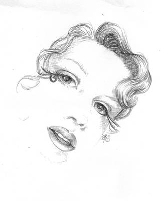 Drawing - Self Portrait by Scarlett Royal