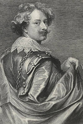 Flemish Drawing - Self Portrait by Sir Anthony van Dyck
